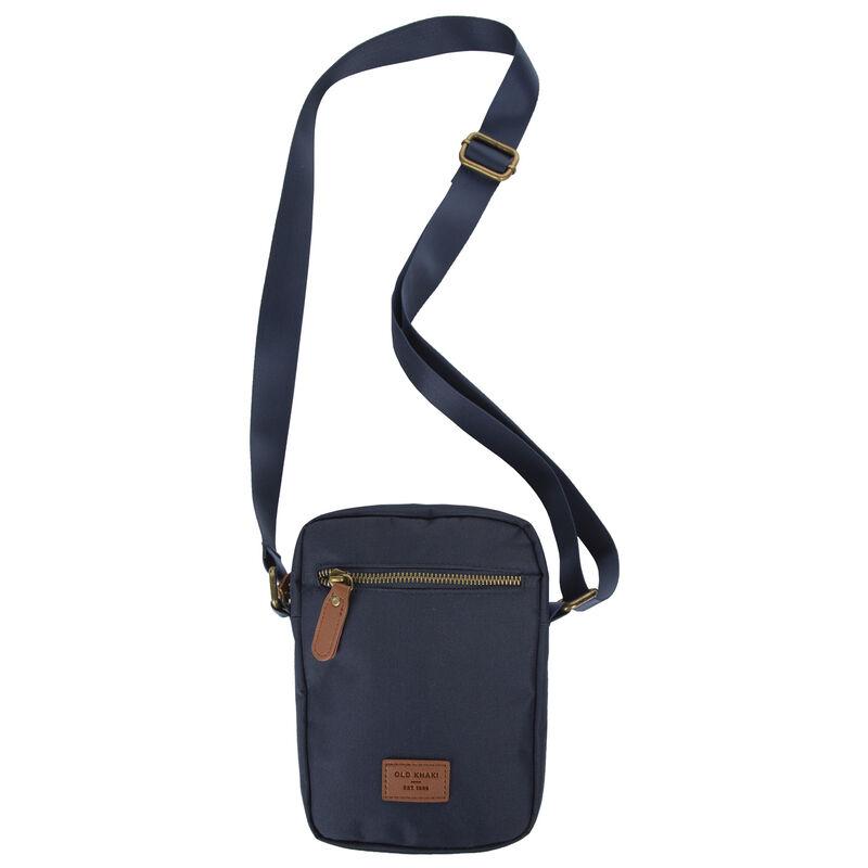 Cairo Retro Badge Cross Body Bag -  navy-brown