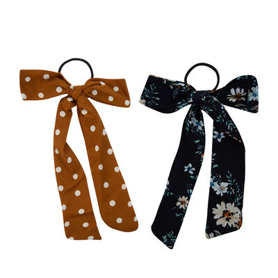 Dot & Floral 2-Pack Hair Ties
